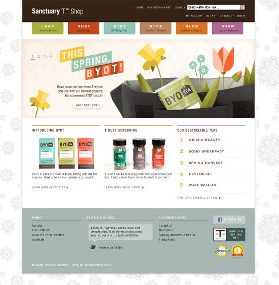 Organic web design inspiration: www.shopsanctuaryt.com | [design ...