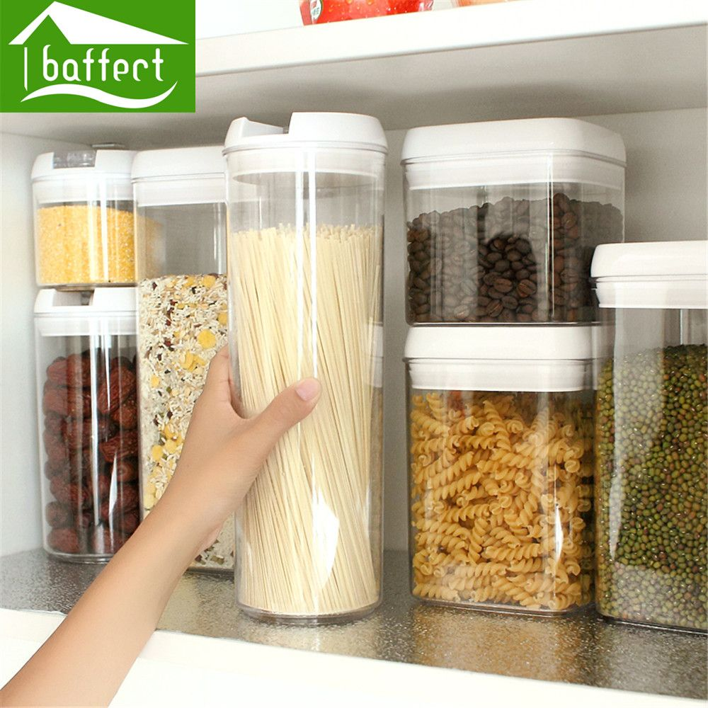 Plastic Food Storage Box Sealed Crisper Grains Tank Storage Sorting ...