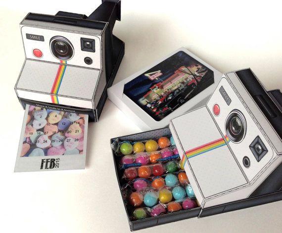 3d Polaroid Camera Printable Paper Desk Calendar For Your