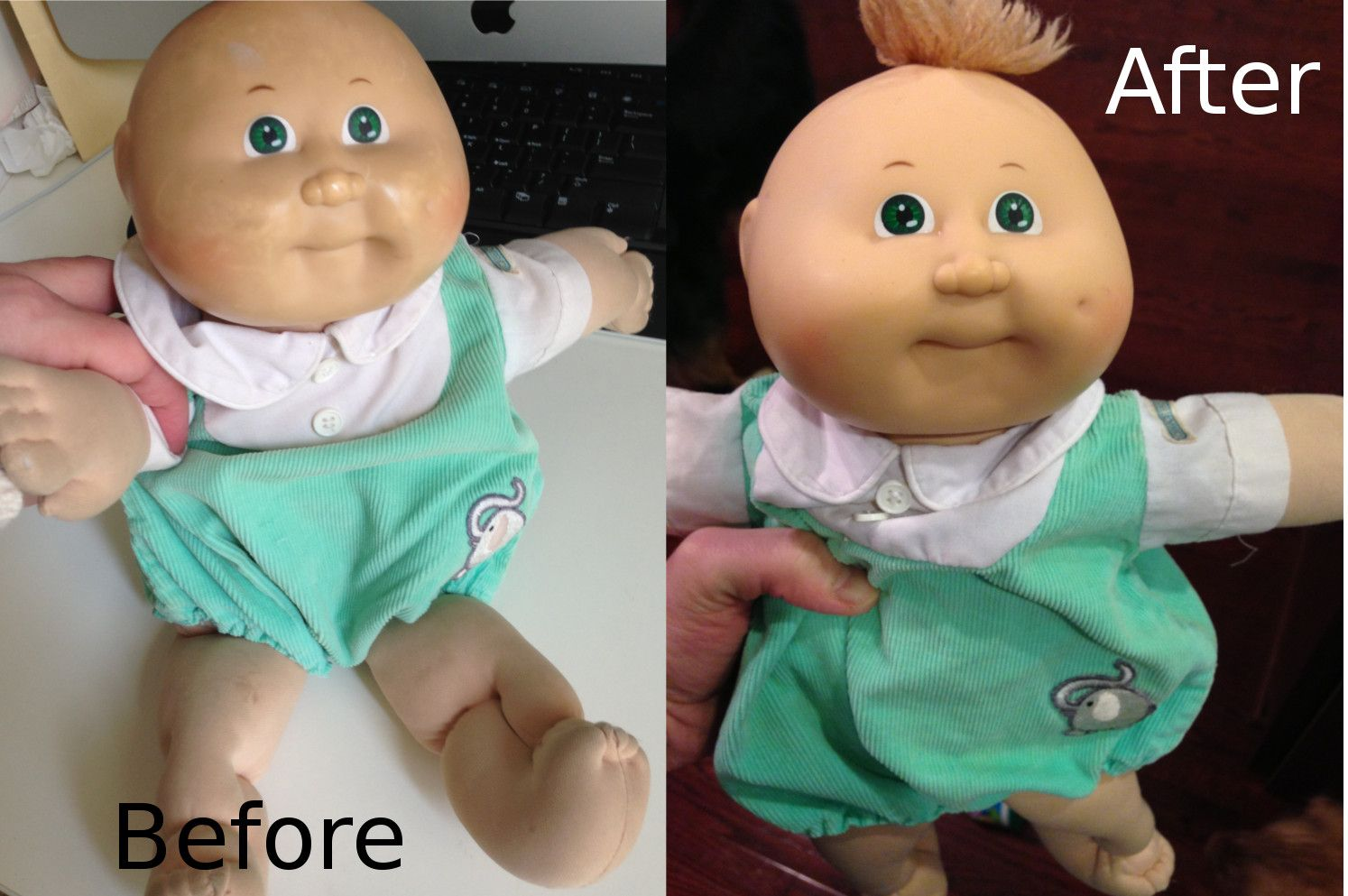 Washing a Cabbage Patch Doll