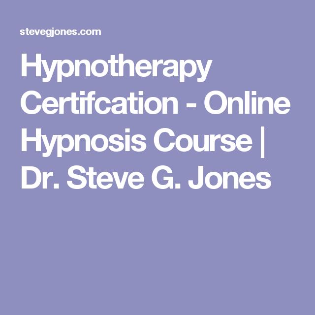 Online Hypnotist Certification Program Programming