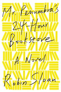 2013 - Mr. Penumbra's 24-Hour Bookstore by Robin Sloan - After a layoff during the Great Recession sidelines his tech career, Clay Jannon takes a job at the titular bookstore in San Francisco, and soon realizes that the establishment is a facade for a strange secret.