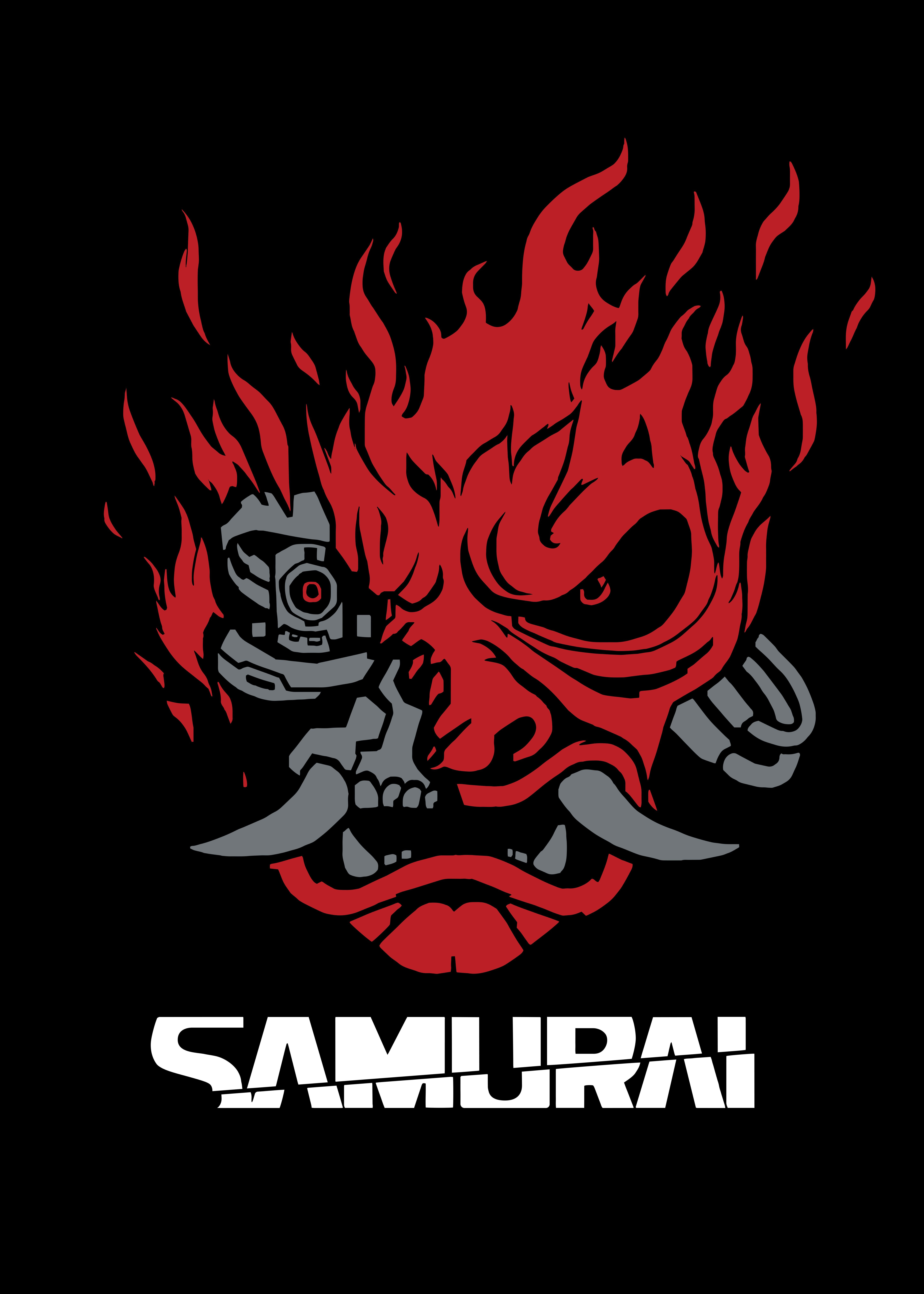 Samurai Metal Poster Print Cyberpunk 2077 Displate In 2020 Cyberpunk 2077 Fantasy Posters Cyberpunk Art