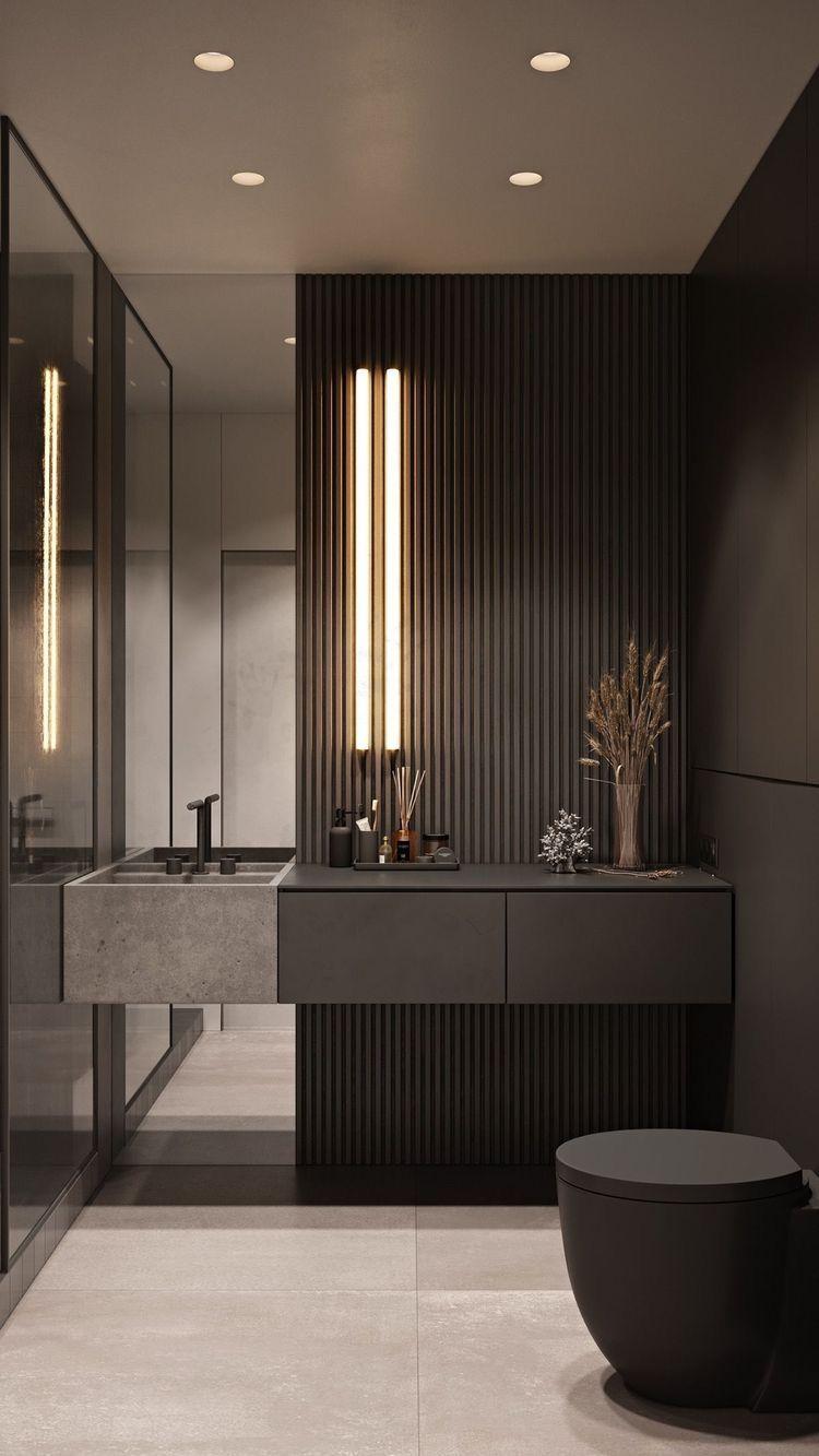 Black Beige Theme Bathroom Bathroom Design Luxury Hotel Interior Design Hotel Interiors Luxury hotel bathroom design