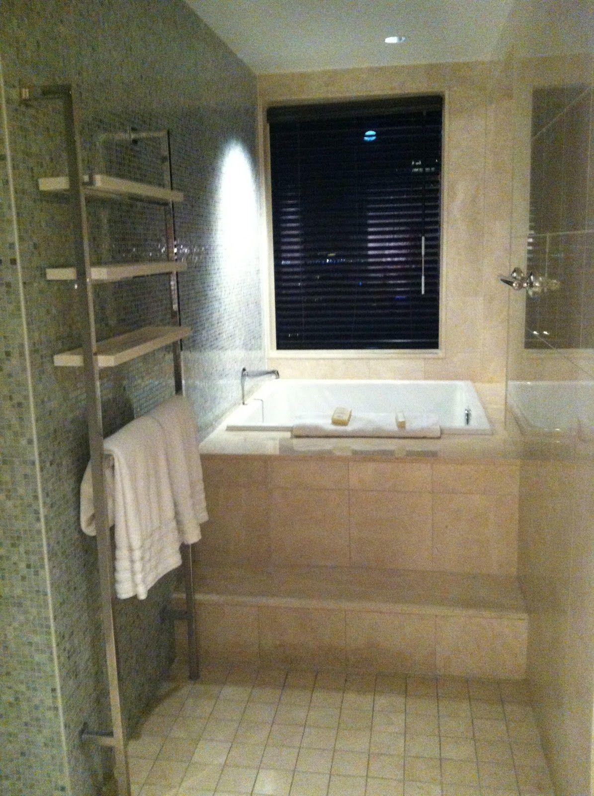 Alcove square soaking tub layout idea. Instead of towel racks, make ...