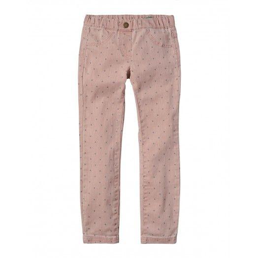 Pantalone stampato, 4 tasche,  in cotone stretch. Elastico regolabile all'interno.4EV857230 pink