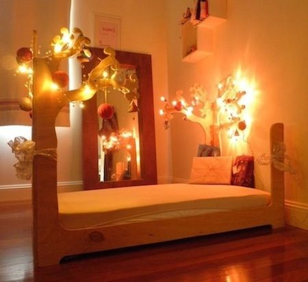 Floorbeds for Fae decorated for the holidays :)