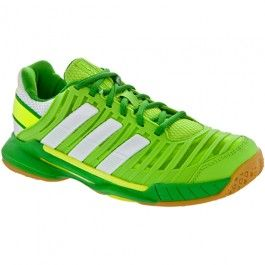 classic fit 39d16 eb878 adidas adipower Stabil 10.1 Lady Ray GreenWhiteReal Green  Indoor, Squash,  Racquetball - Womens Shoes Holabird Sports