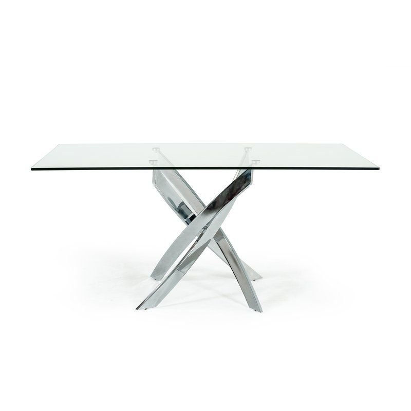 Camron Dining Table In 2020 Metal Base Dining Table Dining Table Rectangular Dining Table