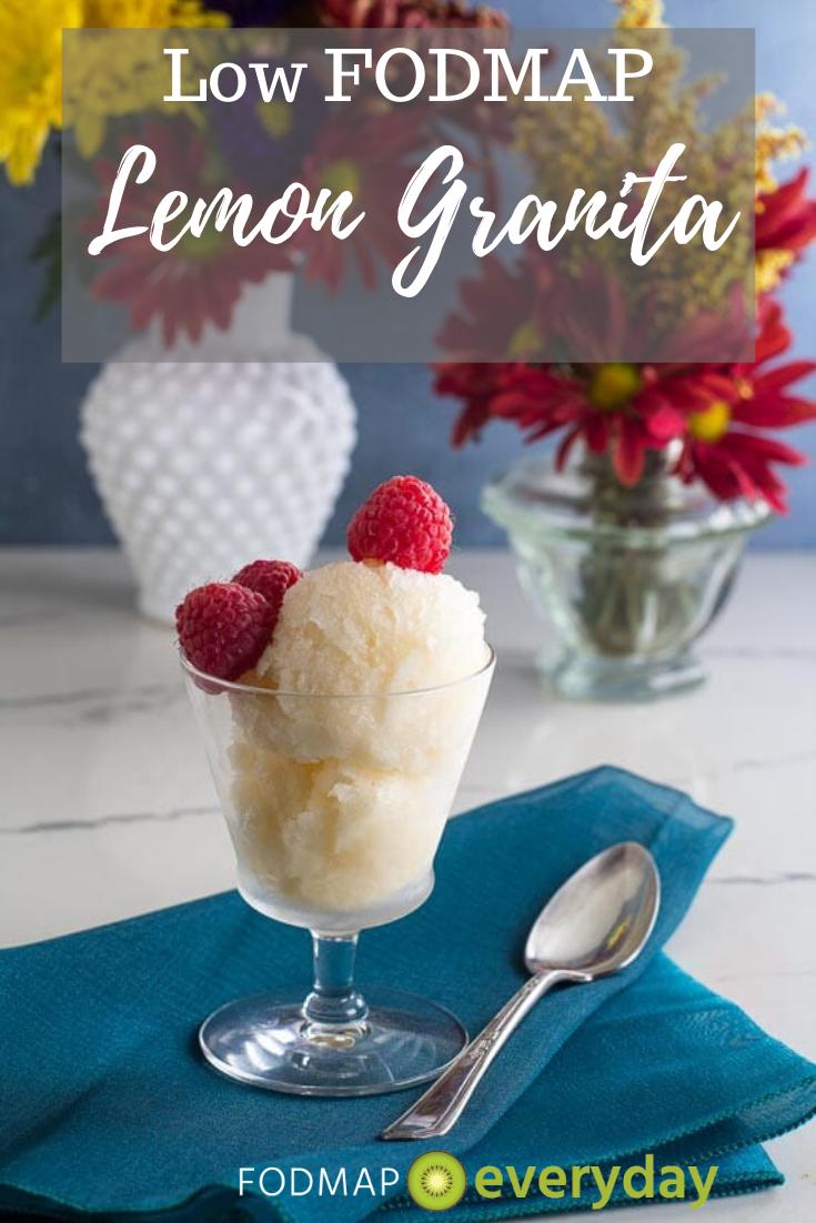 Low Fodmap Lemon Granita Fodmap Everyday Recipe Fodmap Dessert Recipe Low Fodmap Recipes Low Fodmap