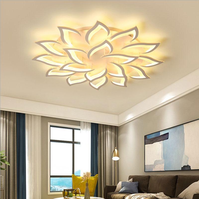 Modern Simple Led Flush Mount Acrylic Sunflower Shaped Ceiling