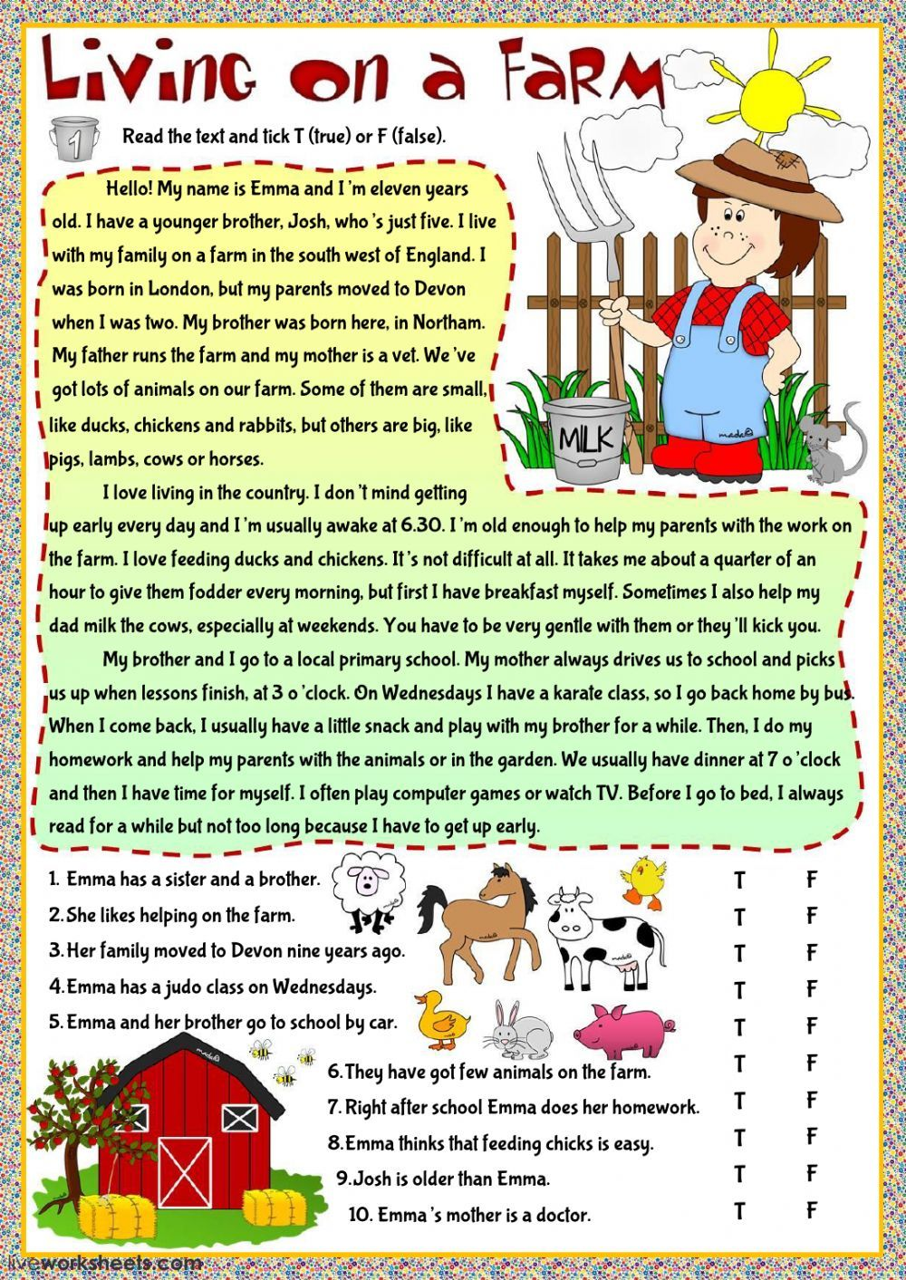 Present Simple interactive and downloadable worksheet. You can do th…   Reading  comprehension texts [ 1413 x 1000 Pixel ]