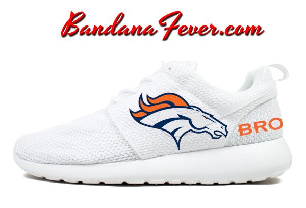 size 40 a2659 525b8 Custom Big Broncos Nike Roshe Run Shoes White, FREE SHIPPING,  broncos,   denver, by Bandana Fever  sports  football  love  sportsnation  Shoes  Run   Nike ...