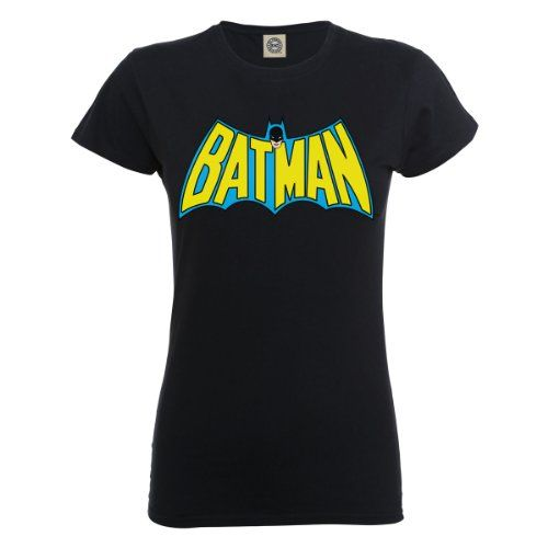 DC Comics - Camiseta de manga corta con cuello redondo para mujer, color negro, talla 2xl #regalo #arte #geek #camiseta