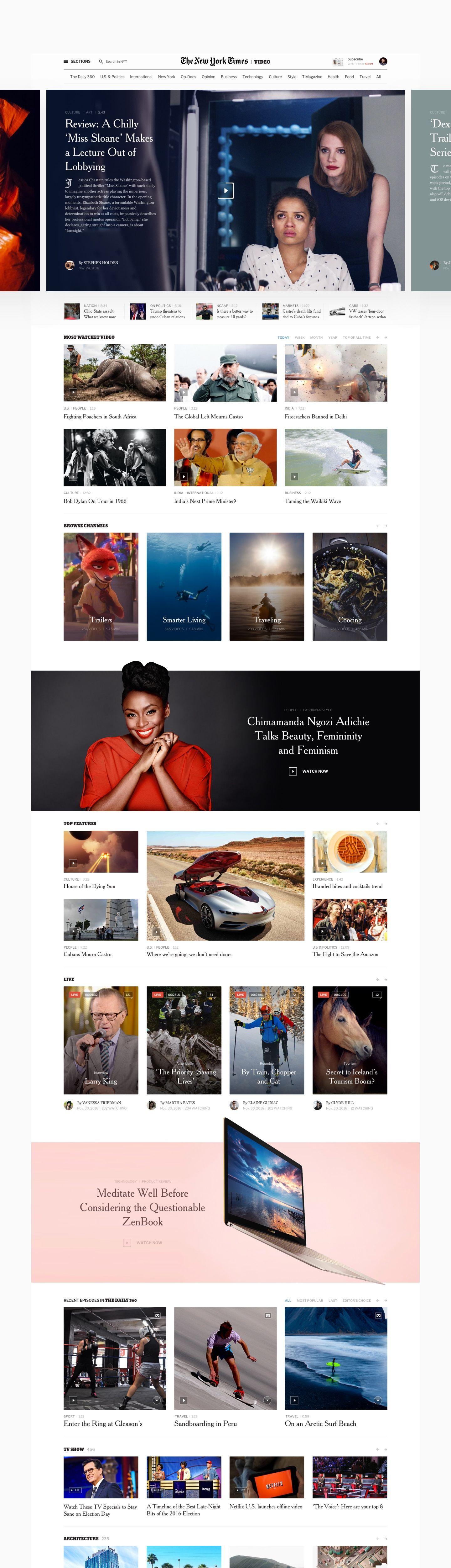 Editorial Design The New York Times Redesign Concept Web Design Inspiration Web Design Examples Fun Website Design