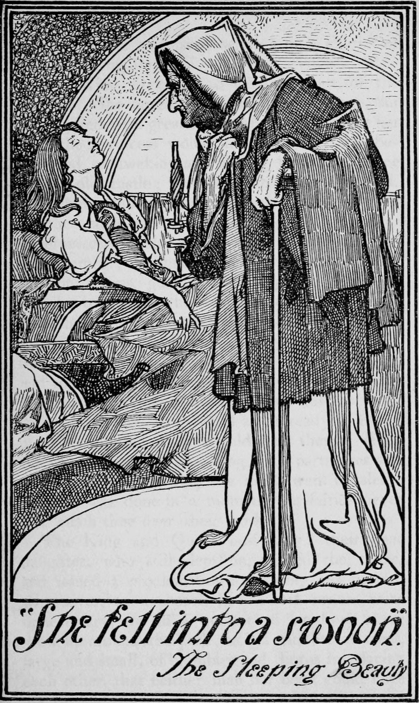 Sleeping Beauty -- Charles Robinson -- Fairytale Illustration