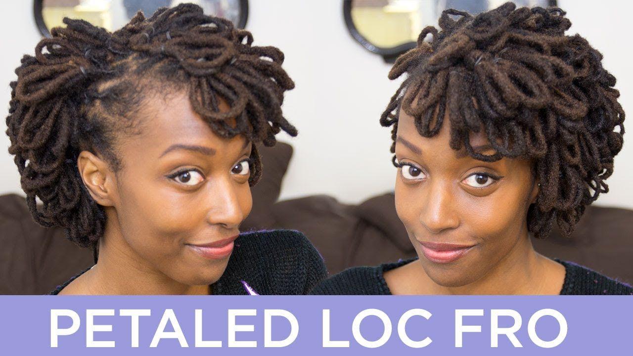 Loc Hairstyle Tutorial Petaled Loc Fro Locs Hairstyles Hair Styles Hair Tutorial