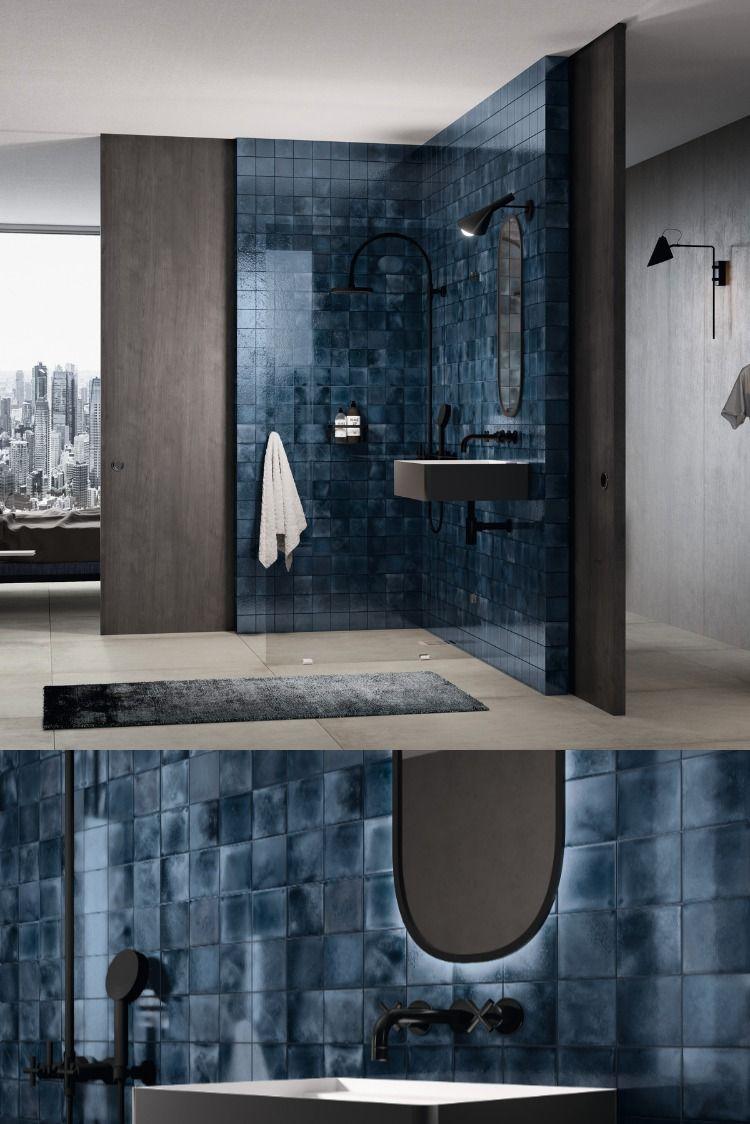 Keramik Pur L Naturlich Ursprunglich Authentisch L Loft Badezimmer Bad Design Runde Badezimmerspiegel Bad Fliesen