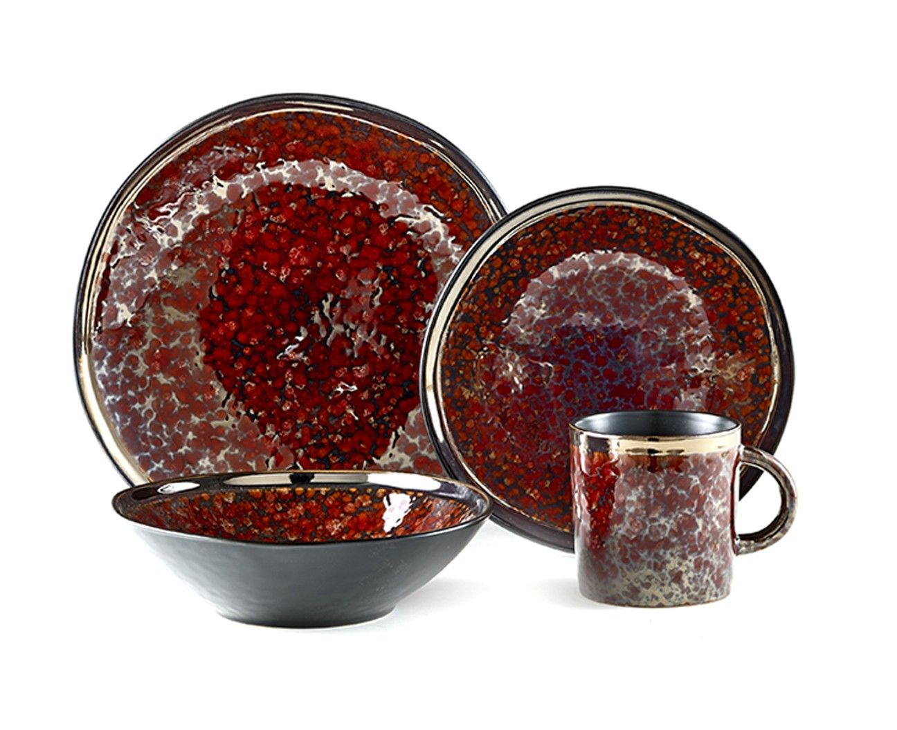 PEBBLE RED DINNERWARE 16 pc (service for 4) - Dinnerware - Dining |  sc 1 st  Pinterest & PEBBLE RED DINNERWARE 16 pc (service for 4) - Dinnerware - Dining ...