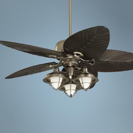 54 Emerson Laguna Bay Palmetto Boardwalk Pewter Ceiling Fan