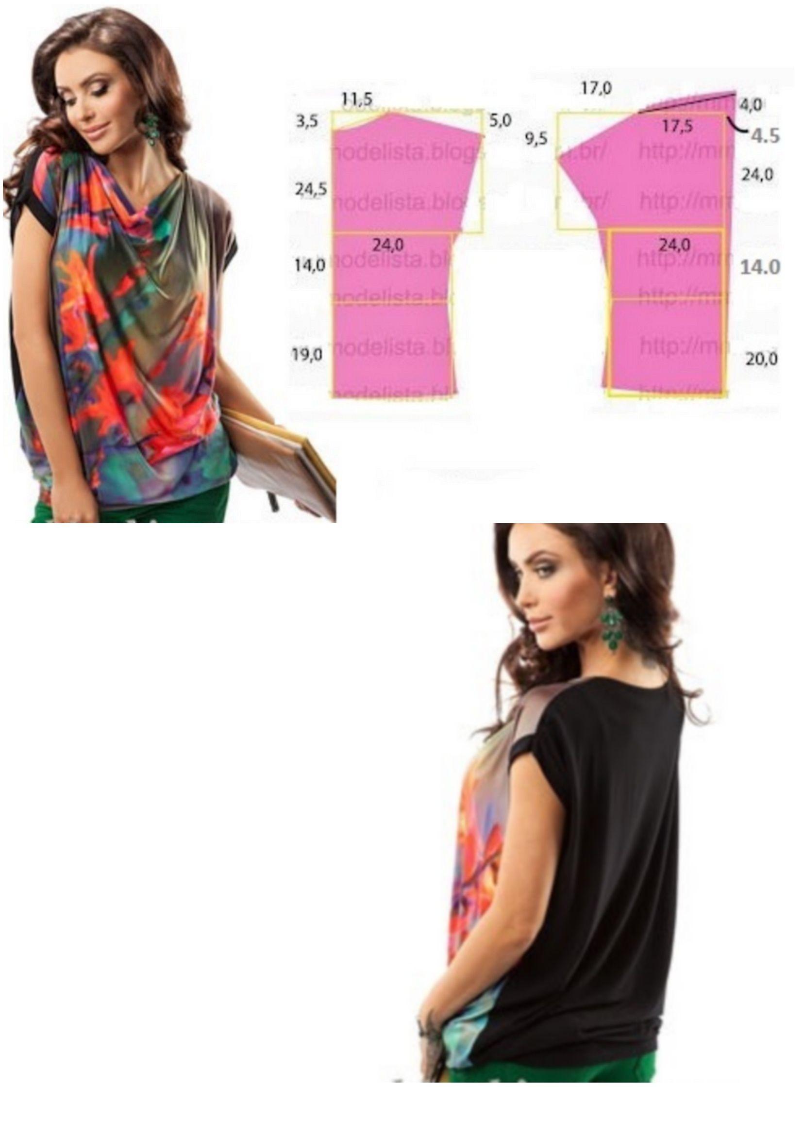 Mod@ En Line@. | blusas y demás en tela | Pinterest | Molde, Aqui ...