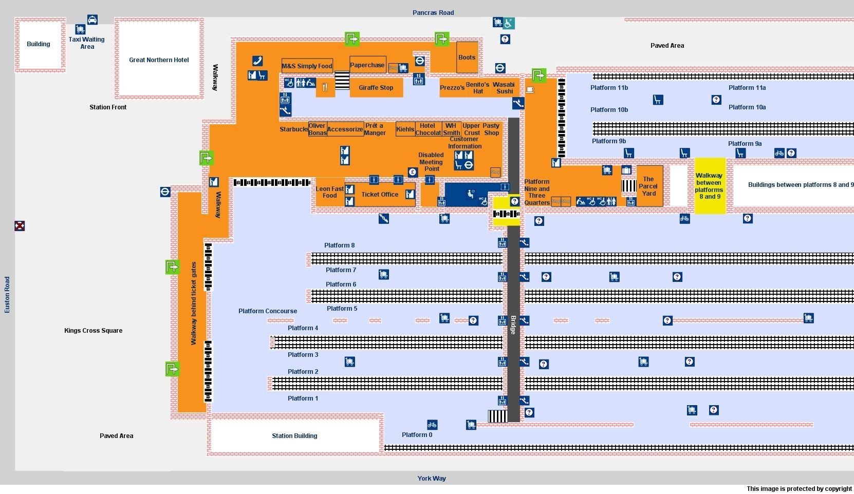 Map of London Kings Cross Station Kings cross station