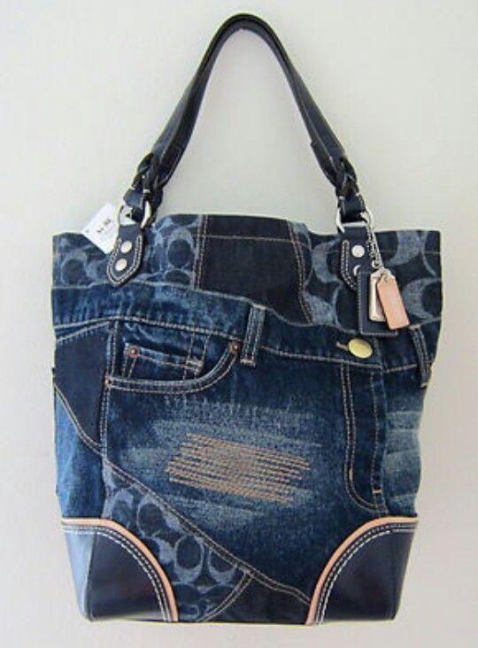 Poppy Denim Patchwork Bag Coach Purses Handbags And Bags