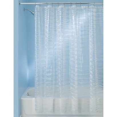 InterDesign Shower Curtain Geometric Clear 20 Wave Like Target