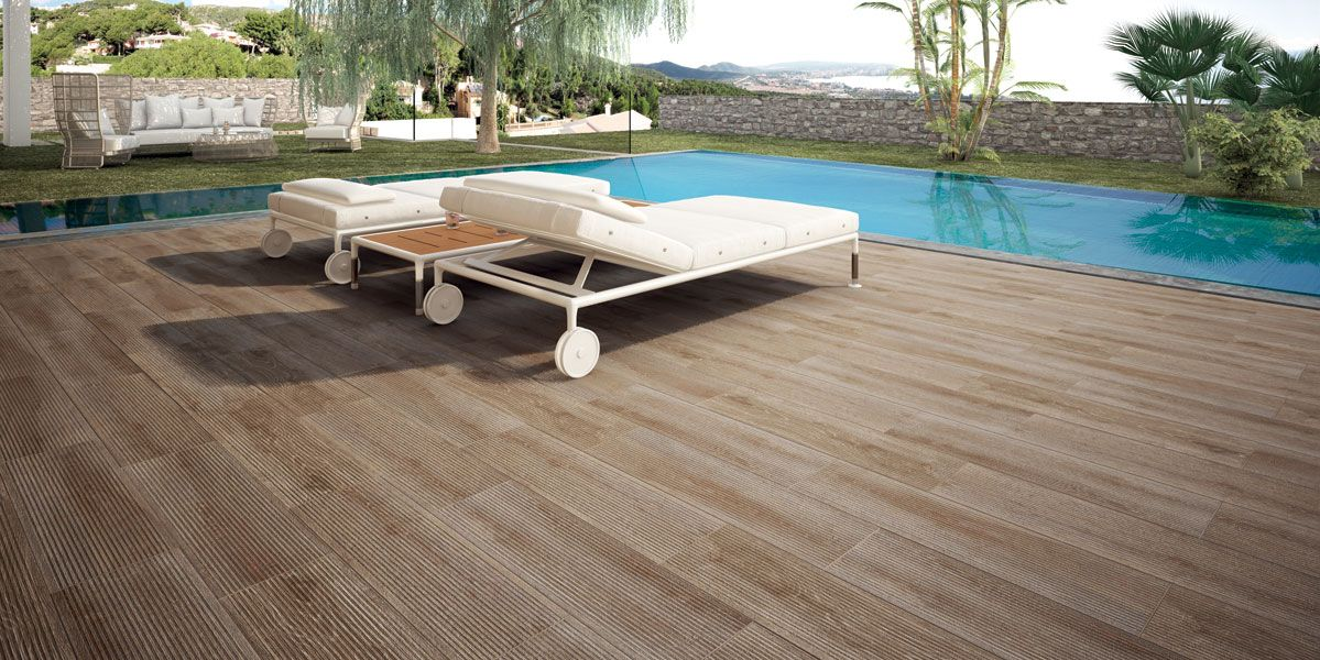carrelage imitation teck (With images) | Outdoor decor, Sun lounger, Parquet