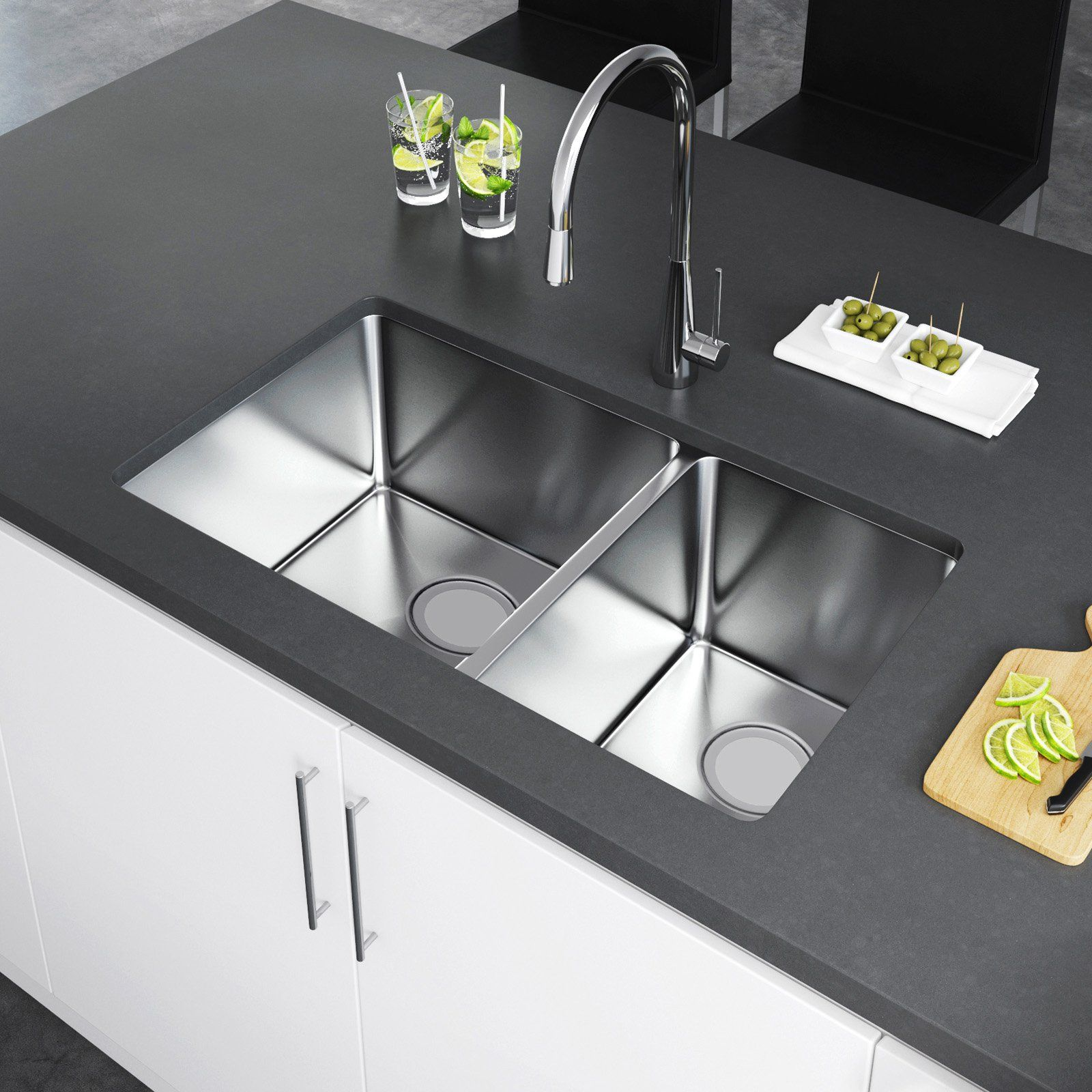 Exclusive Heritage Double Bowl Undermount Ksh 3219 D6 Kitchen Sink