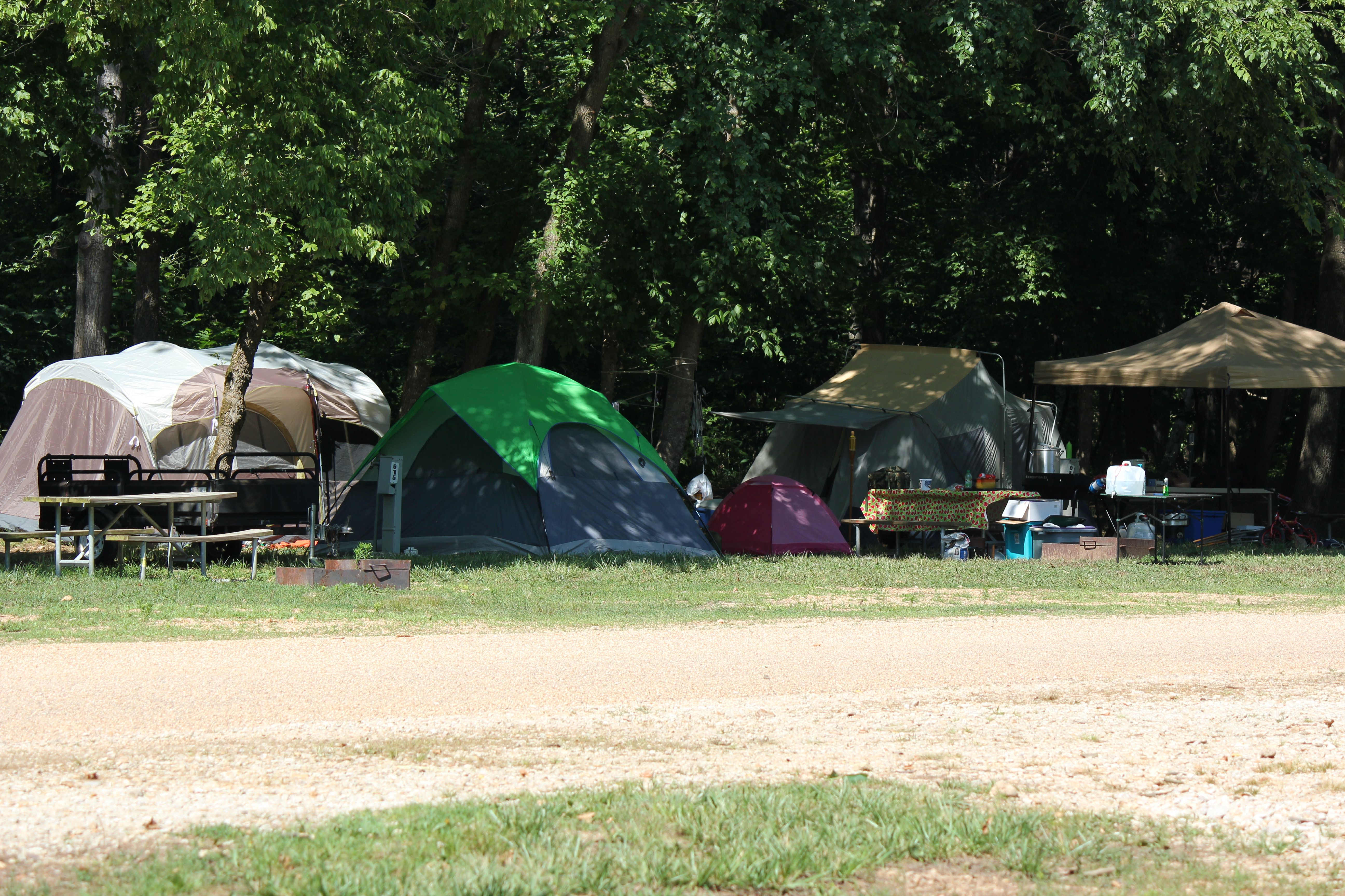 Come on Down and Enjoy Tent Campsites in the Shade!!!