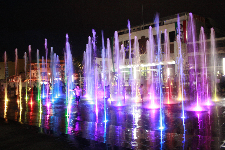 Fuentes danzantes de Plaza de Armas