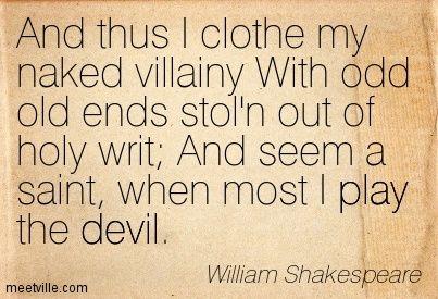 Cloth my naked villany