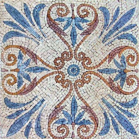 Mosaic Tile Pattern Spiritual Flower