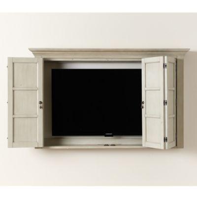 Hughes Tv Cabinet Ballard Designs Tv Wall Cabinets Wall Mounted Tv Cabinet Tv Cabinets Flat screen tv wall cabinet with doors