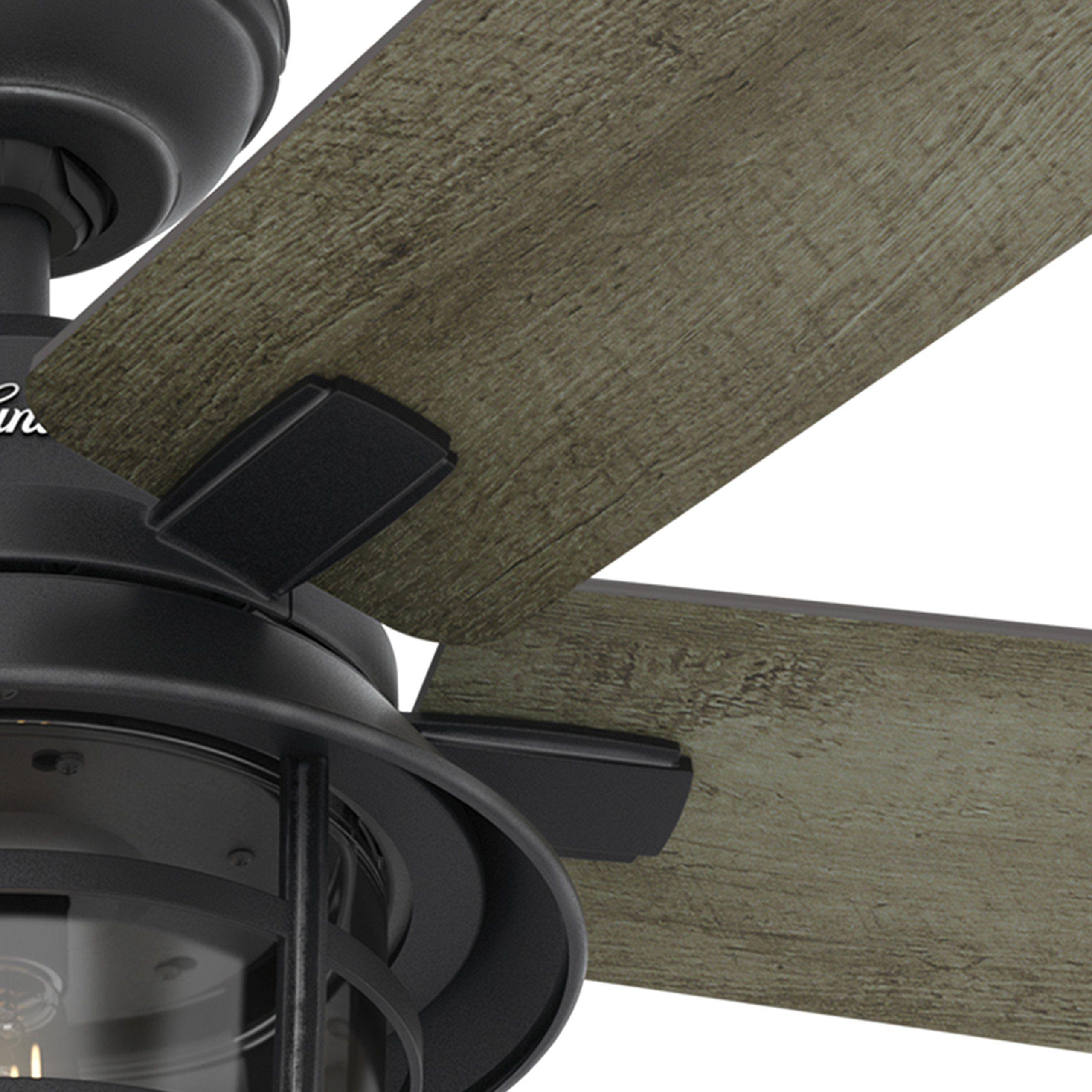 Hunter fan 54 weathered zinc outdoor ceiling fan with a clear hunter fan 54 weathered zinc outdoor ceiling fan with a clear glass led light kit and mozeypictures Choice Image