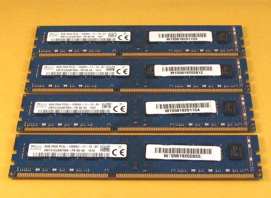 Lot of 16GB Total RAM 2Rx8 PC3-10600R 4x4GB HYNIX
