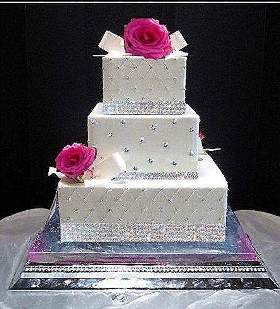 Edible Sugar Diamonds for cake decorations cakes Pinterest
