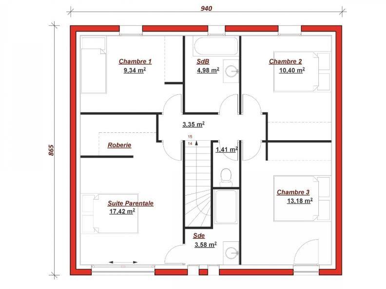plan maison 10m de facade