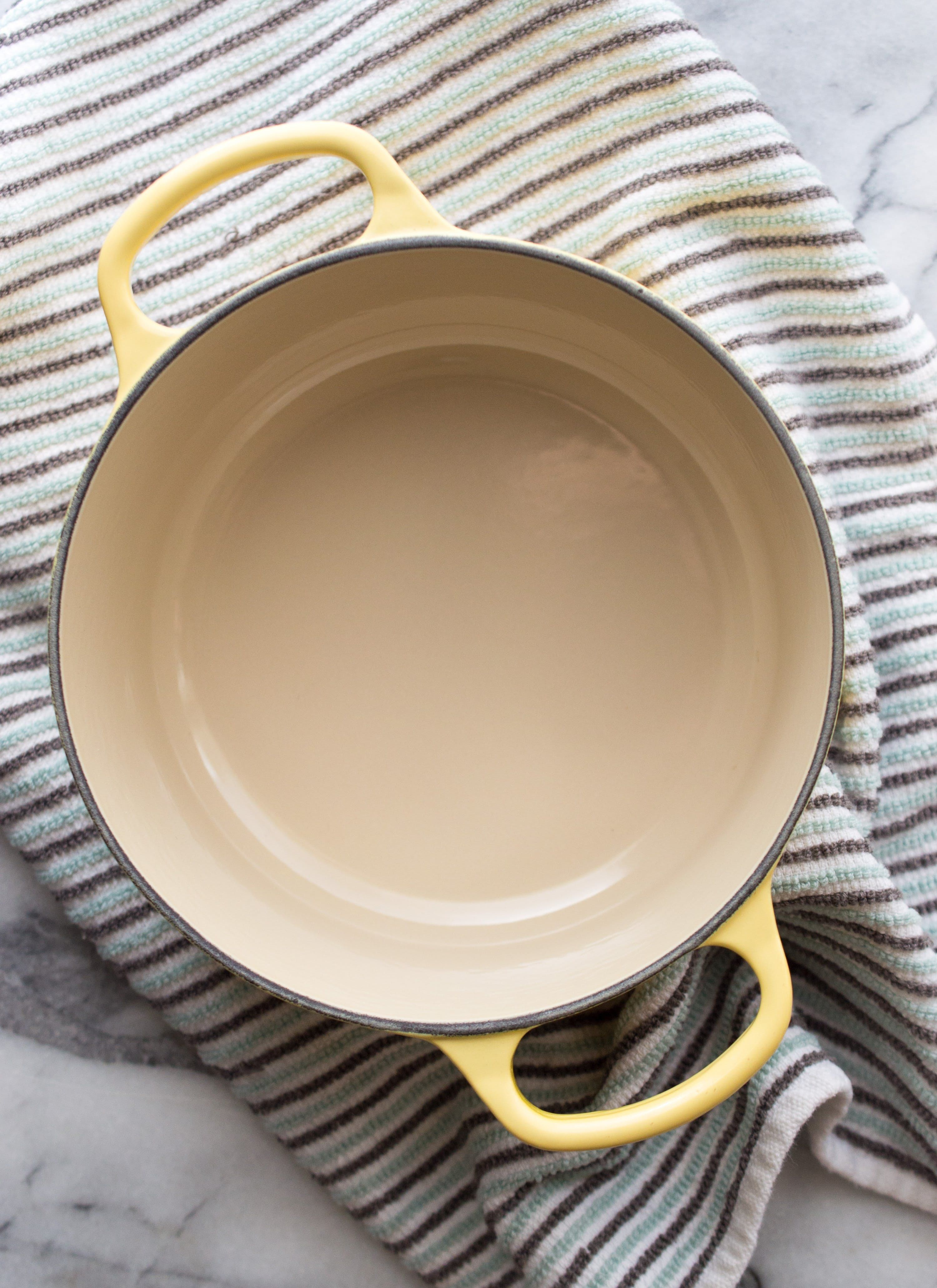 How To Clean Burnt-On Stains Off Enameled Cookware  Clean
