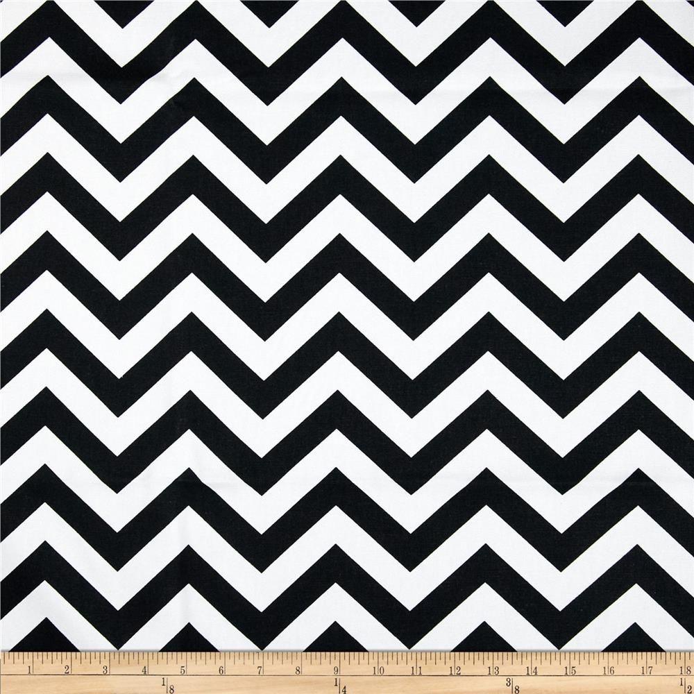 Premier Prints Zig Zag Black/White from @fabricdotcom Screen ...