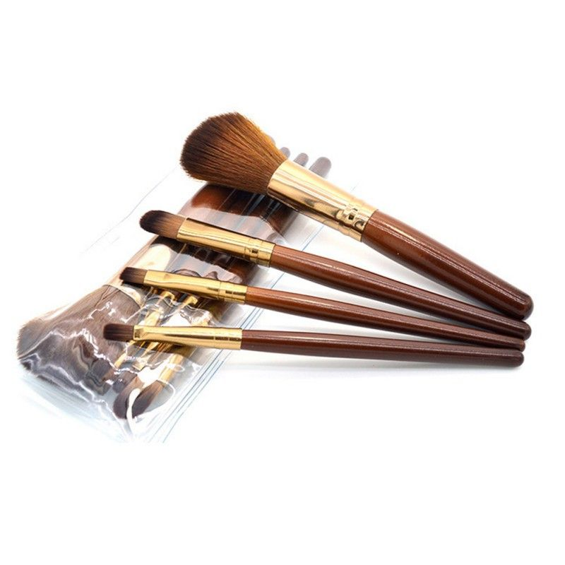 4 pz Trucco Viso Fard In Polvere di Colore Marrone Maniglia Cosmetic Grande Compone Le Spazzole