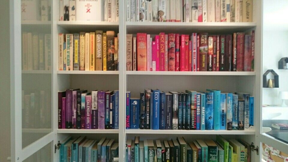 My books by colour.