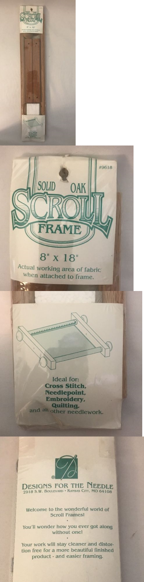 Other Embroidery 75567: Solid Oak Scroll Frame #9618 Cross Stitch ...