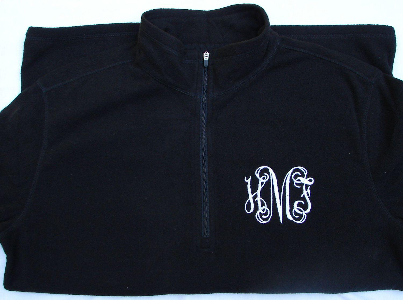 Monogrammed zip fleece jacket via etsy everything