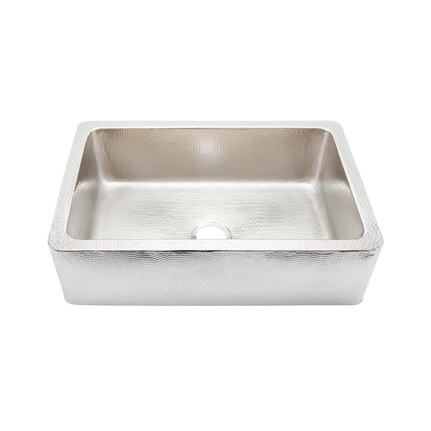 Thompson Traders Ksa 3322brn Limited Editions Hammered Nickel Lucca Kitchen Sink At Atg Stores Copper Kitchen Sink Sink Apron Front Kitchen Sink