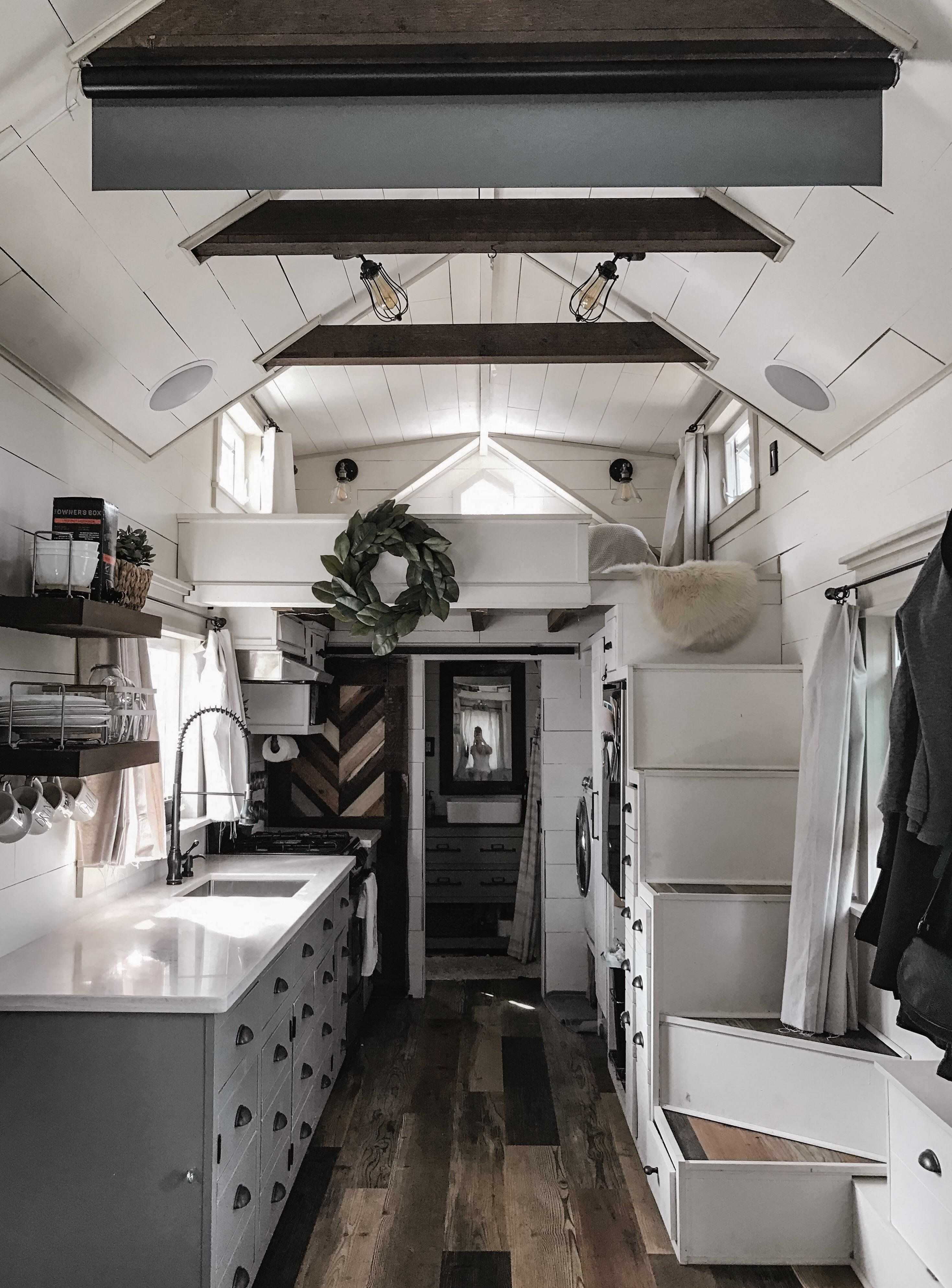 Our self-built tiny home on wheels [25x25] : RoomPorn  Tiny