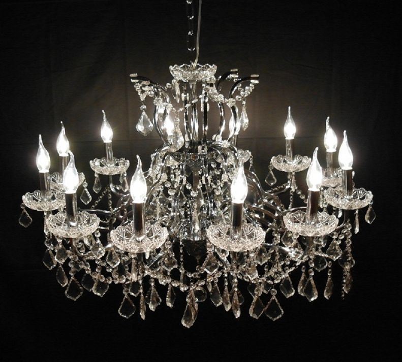 Large french vintage antique style 12 branch crystal cut glass large french vintage antique style 12 branch crystal cut glass chandelier aloadofball Choice Image
