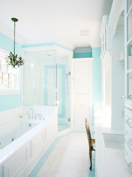 Blue Tile Bathroom Aqua Bathroom Blue Bathroom Decor Tiffany Blue Bathrooms Turquoise Bathroom