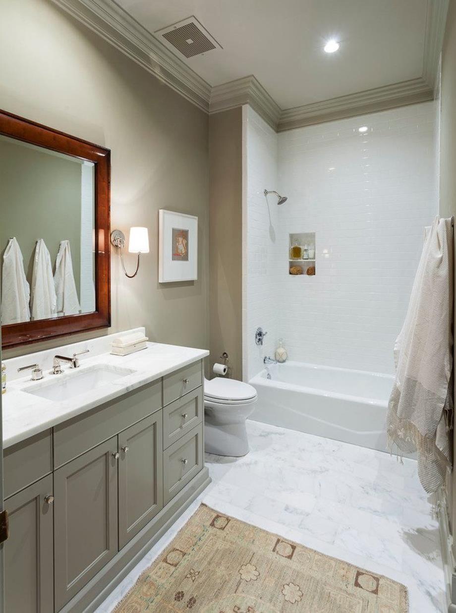 38 Stunning Gray Bathrooms with Accent Color Ideas | Bathroom Ideas ...